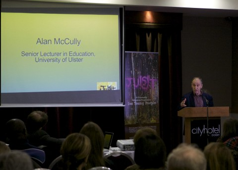 Dr Alan McCully addressing the audience